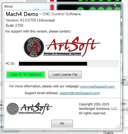 Mach4 license file
